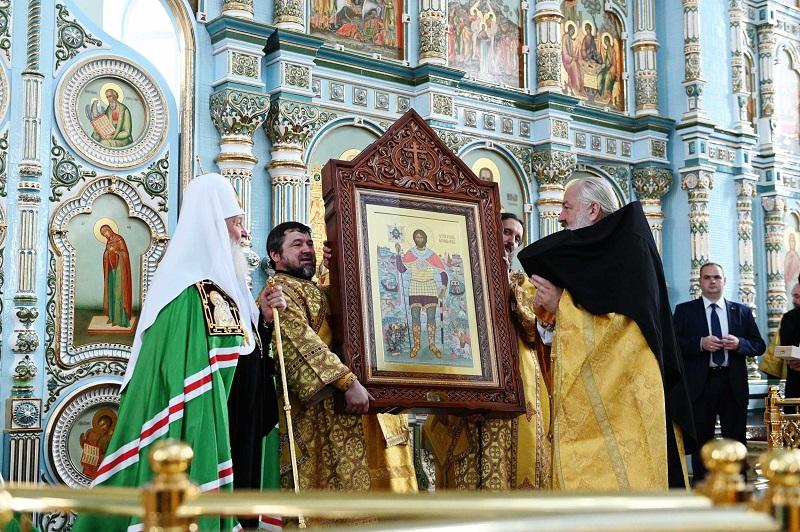 Храм Державной иконы Божией Матери освятил Патриарх Кирилл 1