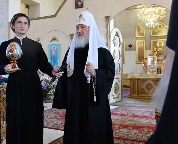 Патриарх Кирилл в Храме Державной иконы Божией Матери-0Hw