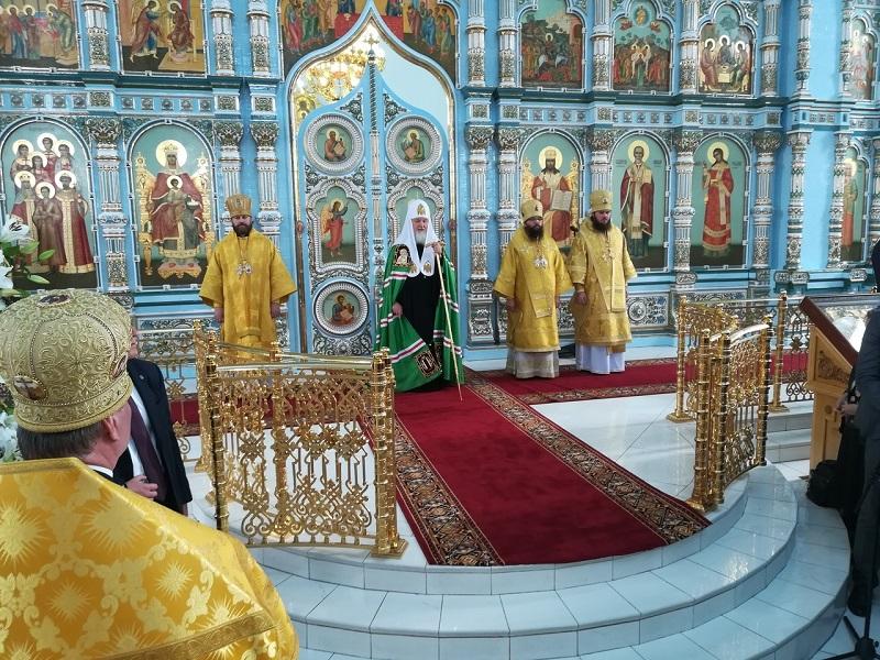 Храм Державной иконы Божией Матери освятил Патриарх Кирилл 3